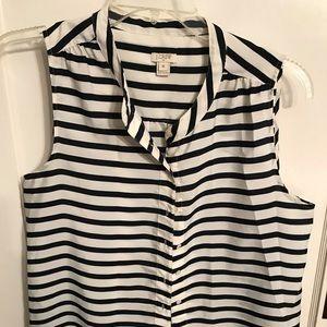 J. Crew Stripe shirt. Navy and White. Size 14